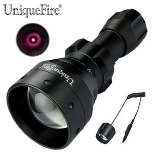 UniqueFire 1503 Night Vision LED Flashlight IR 850nm illumination Zooming Torch+ Remote Pressure Tail Switch for Outdoor Hunting