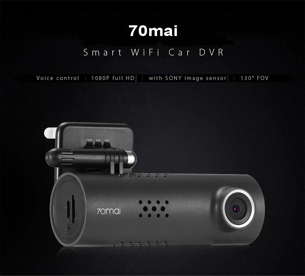 Xiaomi 70mai Smart Dash Cam 130 Degrés Sans Fil Wifi dvr de voiture 1920X1080 P Full HD Nuit Version G- capteur Anglais Version