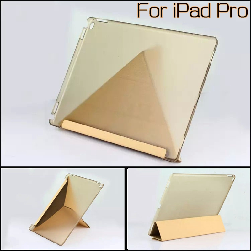 Luxury Stand Transformer Smart PU Leather Cover for iPad Pro 12.9 inch Tablet Funda Case With Auto Sleep/Wake Up+Stylus Pen case for funda ipad pro 12 9 luxury business leather case tablet 12 9 inch wake up hand belt holder stand flip bags alabasta