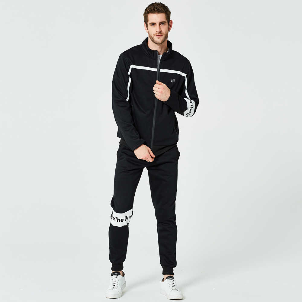 Мужской костюм весна и осень Новый двухсекционный тренд свитер кардиган Повседневный свободный костюм Мужская спортивная одежда
