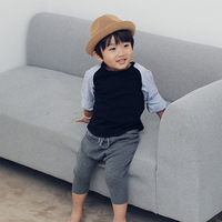 Baby Boys T Shirt Kids Tee Girls Tops Boys Long Sleeve Stitching Cotton Striped Autumn Shirt