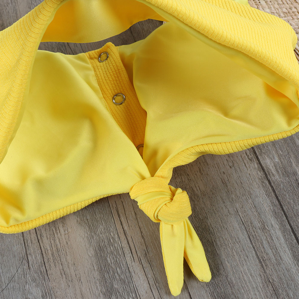 Melphieer Girls Yellow Red Bow knot Bikini 19 Beach Swimwear Summer Swimsuit Female Bikinis Women Bathing Suit Maillot De Bain 11