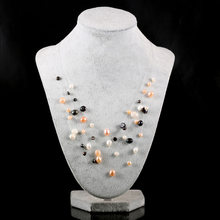 Real Natural Pearl Statement Necklace & Freshwater for Women