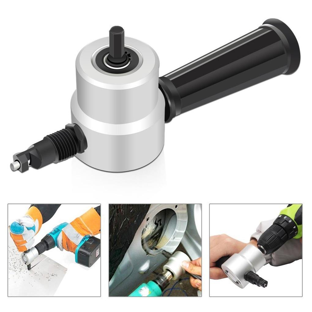 360 Degree Nibble Metal Cutting Double Head Sheet Nibbler Hole Saw Cutter Drill Tool Tackle Car Repair Metal Sheet