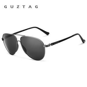 Image 5 - GUZTAG gafas de sol clásicas para hombre y mujer, lentes de sol de aluminio de gran tamaño, polarizadas, con protección UV400, G8005