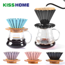 New Arrival Espresso Coffee Filter Cup Ceramic Origami Pour Over Maker with Stand V60 Funnel Dripper Accessories