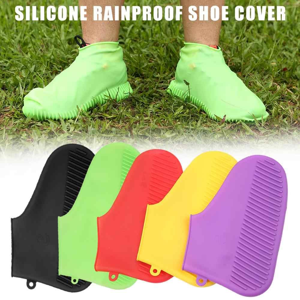 Kullanımlık Ayakkabı Erkekler Kadınlar için Kapakları Yağmur kayma Önleyici Bot Galoş Erkek Su Geçirmez yağmur kılıfı Ayakkabı Feminina Mujer