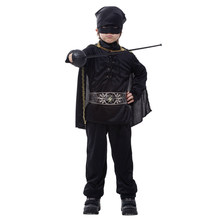 Kids Child Boys Masked Dark Knight Hero Warrior Cosplay Costume Halloween Carnival Mardi Gras Party Outfit