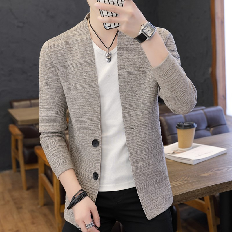 Age Season Cardigan Sweater Coat Of Cultivate One's Morality Handsome Male Knit Sweater
