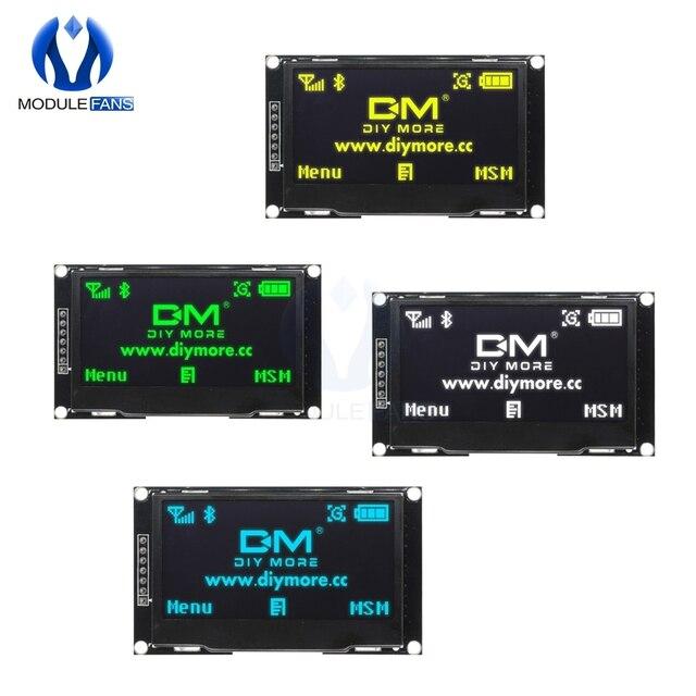 """Pantalla LCD Digital de 2,42 """"y 2,42 pulgadas Módulo de pantalla OLED C51, 12864x64, placa para Arduino, verde, amarillo, blanco y azul, SSD1309 STM32"""