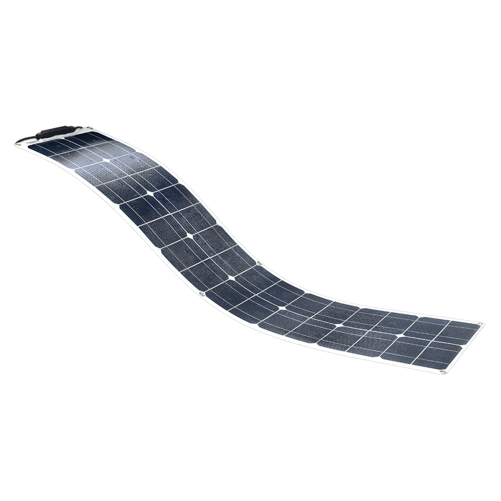50W Water Resistant Corrosion Resistance ETFE flexible Monocrystalline silicon Solar Panel Module Charger with PV Cable Clip image