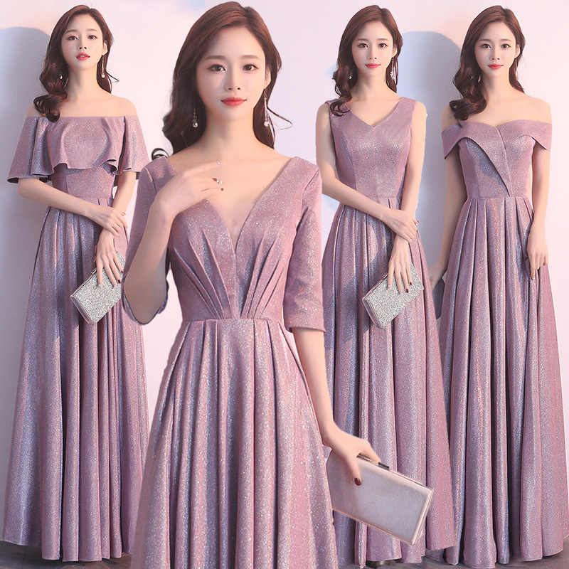 2019 New Sexy Slim reflective dress Chinese style Dress Chinese bridesmaid dress chinese dress Qipao Size S-XXL