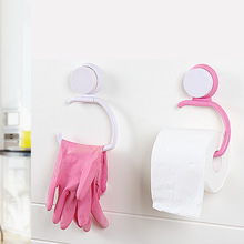Creative Powerful Sucker Paper Holders Vacuum Suction Cup Bathroom Toilet Hanger Roll Tissue Holder Towel Rack