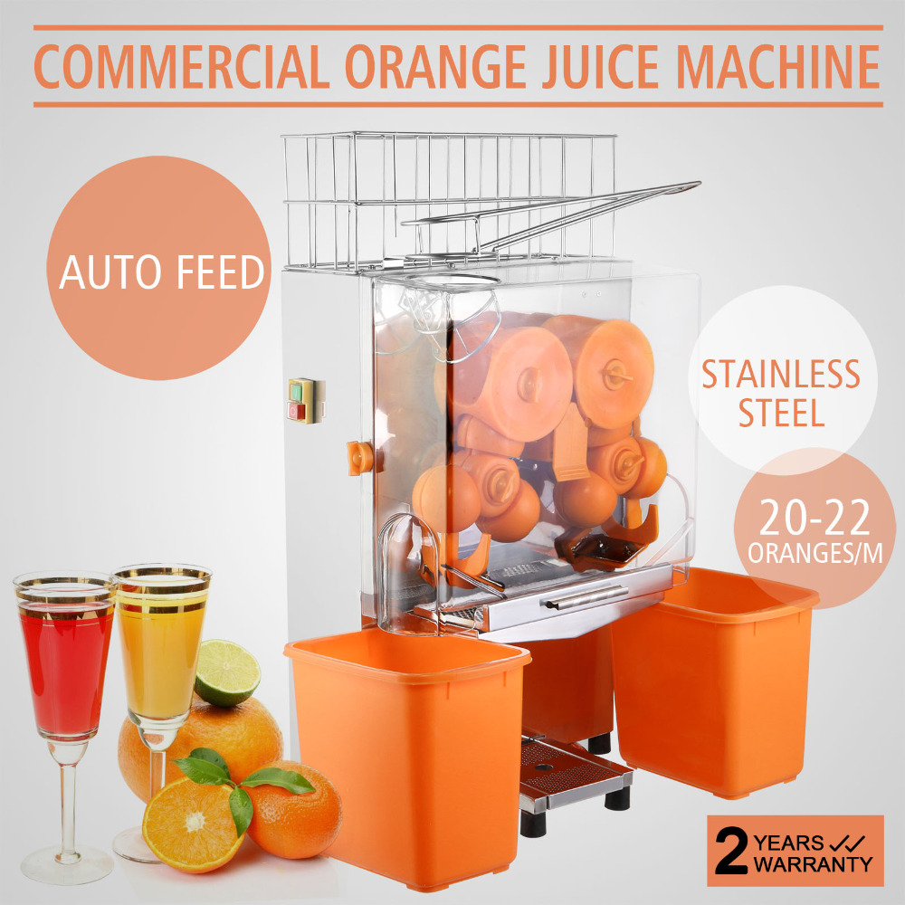 Auto Feed Orange Squeezer Juicer Juice Extractor Machine 20-22 Oranges/min