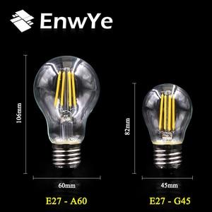 Image 4 - EnwYe الرجعية اديسون ضوء لمبة 4 واط E27 E14 220 فولت A60 G45 C35 الرجعية التنغستن لمبة بفتيلة المتوهجة اديسون مصباح
