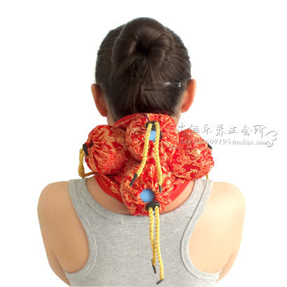 Silks and satins querysystem cauterize cloth cover bag moxibustion box neck moxa utensils chinese silks