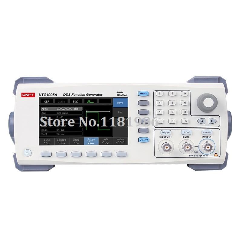 UNI-T UTG1005A função/formas de onda arbitrárias generator/canal único/5 MHz largura de banda do canal/125 MS/s de taxa de amostragem