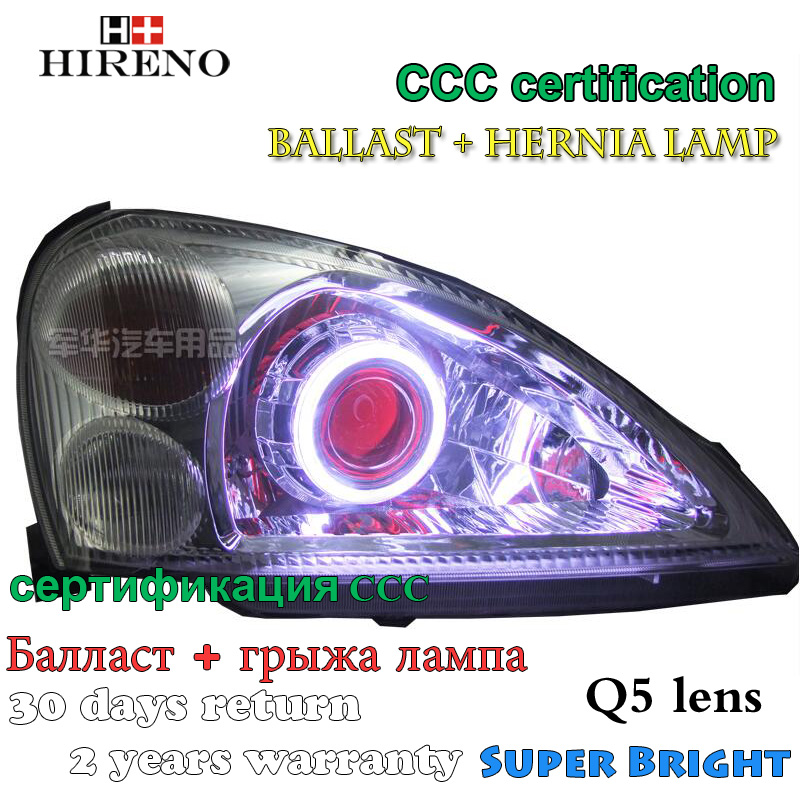 Hireno Modified Headlamp for Suzuki Liana Headlight Assembly Car styling Angel Lens Beam HID Xenon 2 pcs hireno headlamp for cadillac xt5 2016 2018 headlight headlight assembly led drl angel lens double beam hid xenon 2pcs