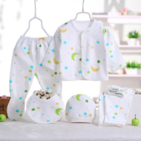 5pcs Set Newborn Gift Baby Clothing Set For 0 3 M Baby Brand Kids Clothes 100