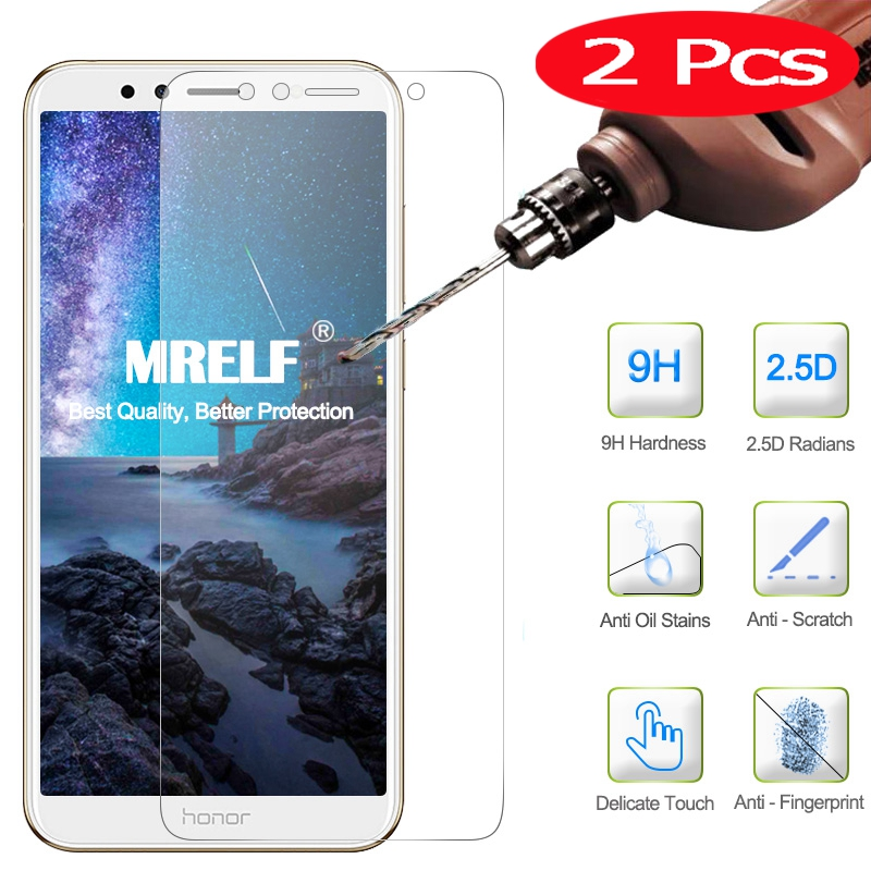 2Pcs Tempered Glass For Huawei Honor 7A Screen Protector DUA-L22 5.45 AUM-AL29 5.7 On Protective Glass For Huawei Honor 7A Pro