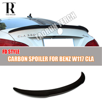 C117 FD Style Carbon Fiber Rear Lip Wing Spoiler For Mercedes Benz C117 W117 A180 A200