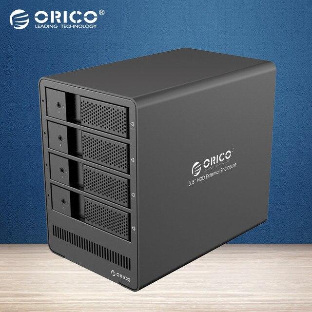 ORICO Инструмент бесплатный 4-бэй 3.5 4bay HDD Док-Станция USB3.0 к SATA HDD Корпус Случае для Пк HDD Случае-(9548U3)