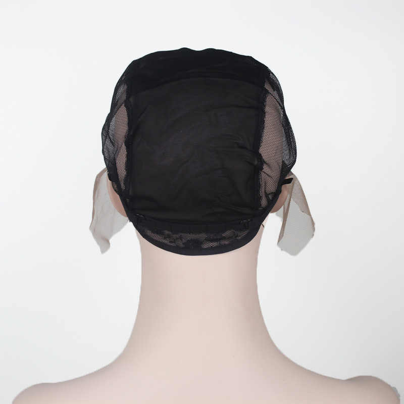c37d620cded ... 2pcs Lot Swiss Lace Wig Caps For Making Wigs With Adjustable Strap On  The Back ...