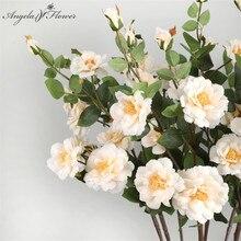 72 см, 7 головок, искусственные розы, ветви, украшение, цветок, для дома, свадьбы, офиса, шелк, Флорес, искусственный айсберг, роза, подарок на день матери