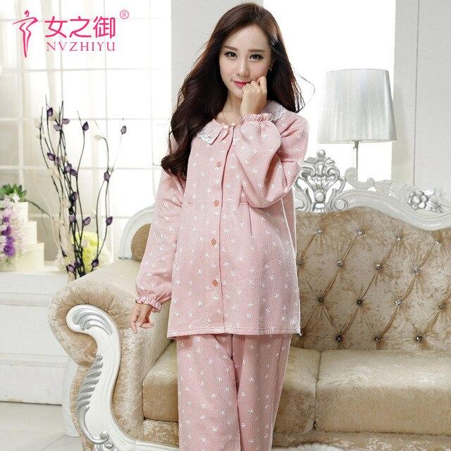 Maternity Dress Autumn winter Pajamas  Pregnant Women Breastfeeding Clothes  Pajamas suit  Pregnant Women Pajamas
