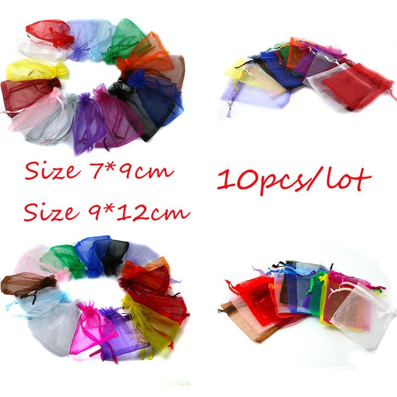 10 шт., декоративные мешочки для ювелирных изделий, 7 Х9/9 х12 см
