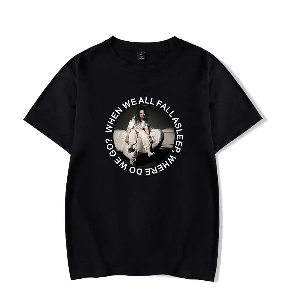 9151fbcd5c72a 2019 Summer Billie Eilish Tshirts Mens Fashion Summer Tops Short Sleeve  Harajuku Streetwear Kpop Clothes Hip