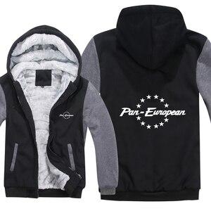 Image 1 - Pan europejskiej bluzy z kapturem męskie zimowy zamek błyskawiczny płaszcz z polaru zagęścić Pan europejski bluza z kapturem ciepła kurtka