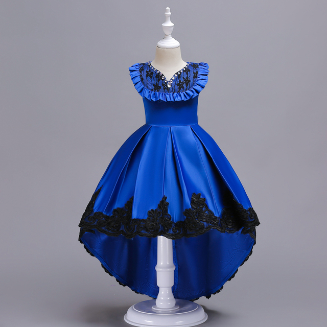 4fadf98b2b7 Girls Designer Kids 2018 New Arrival Vintage Style Red Yellow Purple Royal  Blue Childrens Party Dress