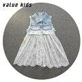 Значение Детей платья девушки детские платье джинсовые платья 10 лет девушка платье дети девушки платья летние 2016 платья NQ-45