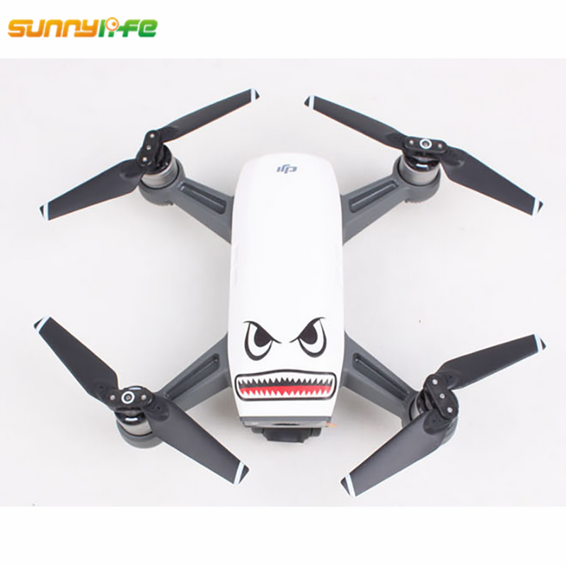 Sunnylife Mavic Air Accessories Spark Sticker Drone Body Shell Decals Skin Mavic Pro Shark Sticker Platinum Aircraft Paster 4