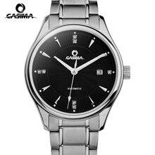 CASIMA люксовый бренд часы мужчины Автоматическая механическая мода бизнес платье классический золотые часы водонепроницаемые 100 м #6905