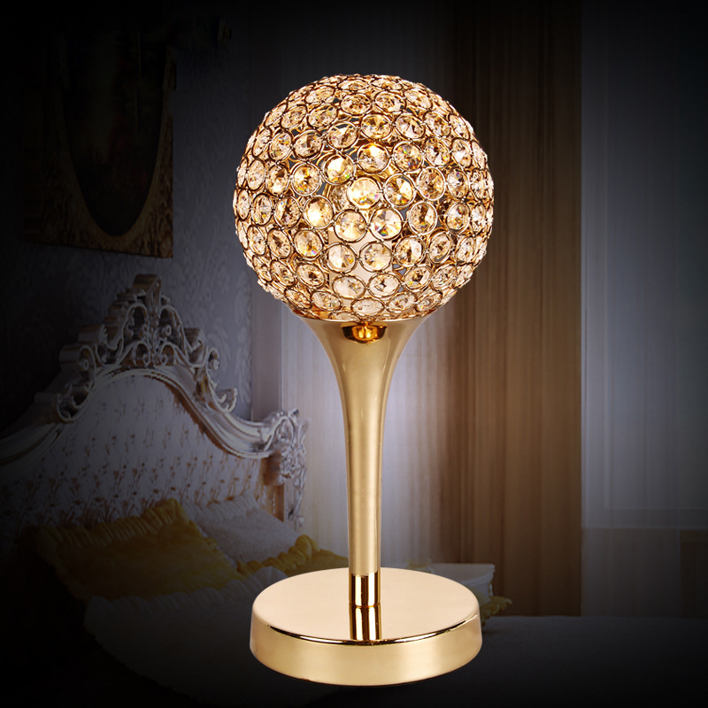 Creative art deco gold or chrome finish modern desk lamp bed room table lamp 110v 220v home lighting fixture free shipping innovation and unique ice block desk table lamp creative small ice lamp g9 220v free shipping