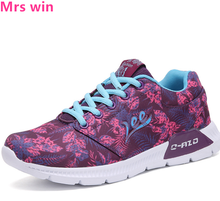 New Spring Air Mesh Women Running Shoes Outdoor Camouflage Anti-Slippery Sneakers Flat Breathable Trainer Sport Shoes Zapatos