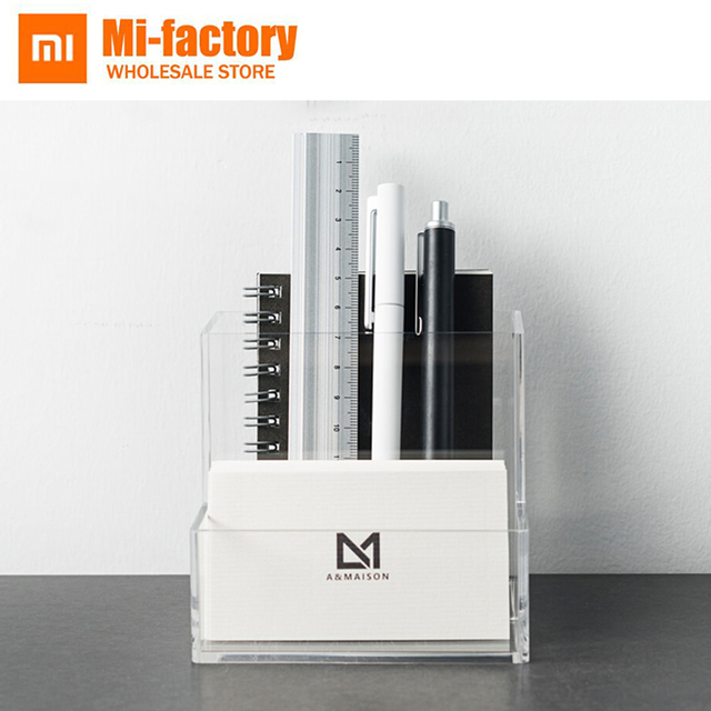 New Xiaomi Mijia YouPin A&MAISON Desktop Storage Box Transparent Material Study&Office Living RoomStorage Objects Large Capacity