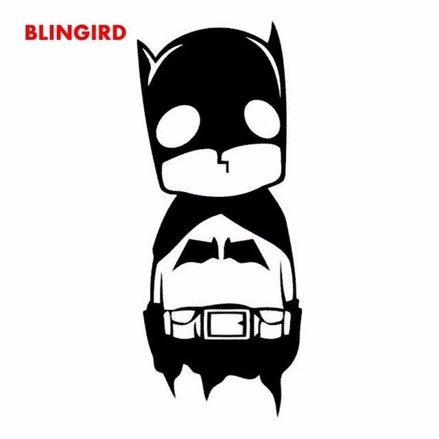 Blingird 19 Cm 8 Cm Sedikit Batman Lucu Kartun Keren Decal Stiker