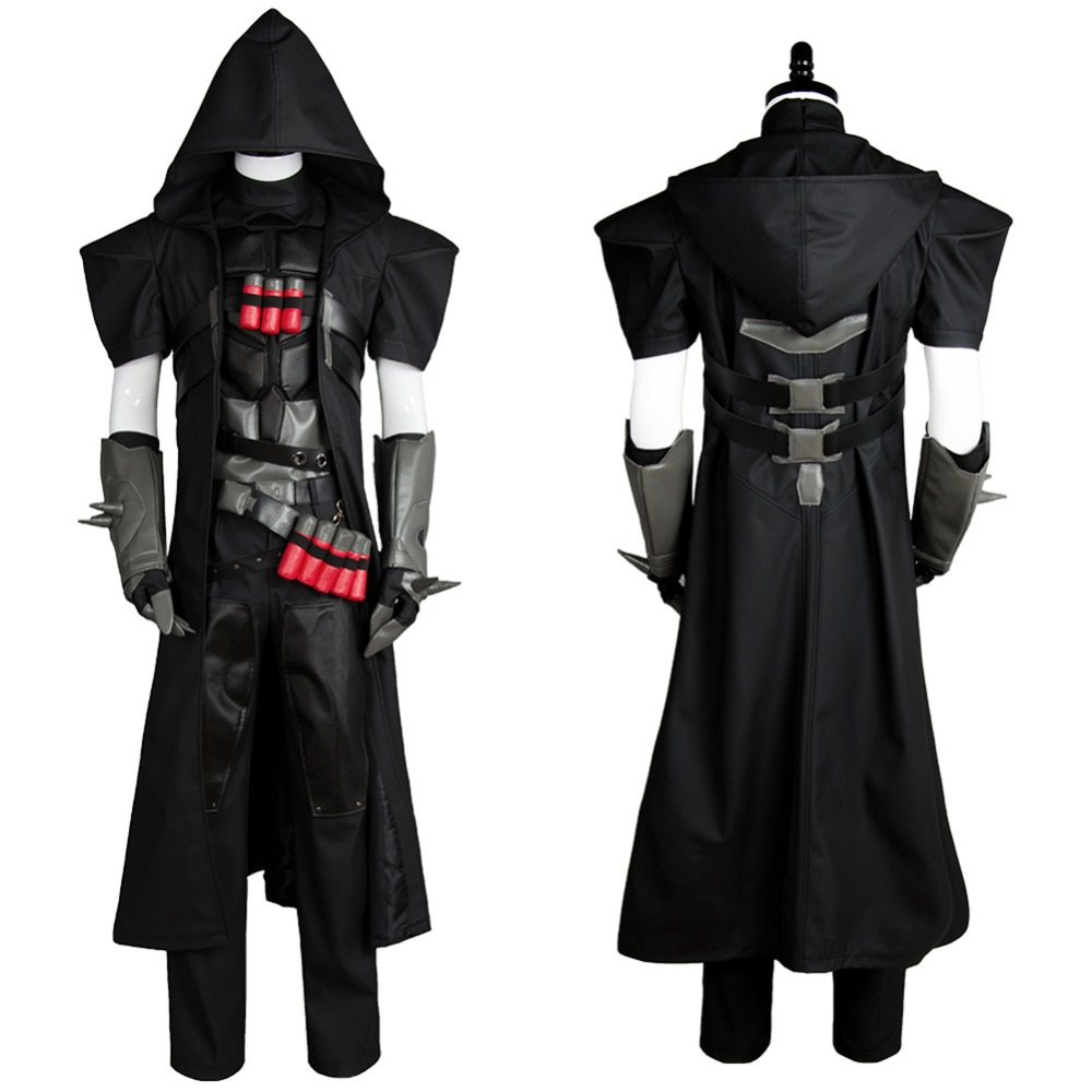 HOT Games Reaper Costume Cosplay Gabriel Reyes Halloween Carnival Full Set Cosplay Costume Any Size Handmade With Mask