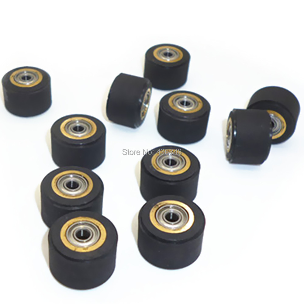 US $13 88 22% OFF Pack Of 10 Copper Core Pinch Roller 3mmx11mmx16mm For Fit  Roland Vinyl Plotter Cutter Cutting Engraving Machine Printer Parts-in