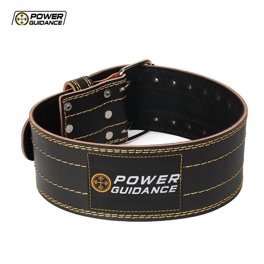 все цены на Power Guidance Weightlifting Belt GYM Fitness Dumbbell Barbell Powerlifting Back Support Crossfit Training Belt Equipment онлайн