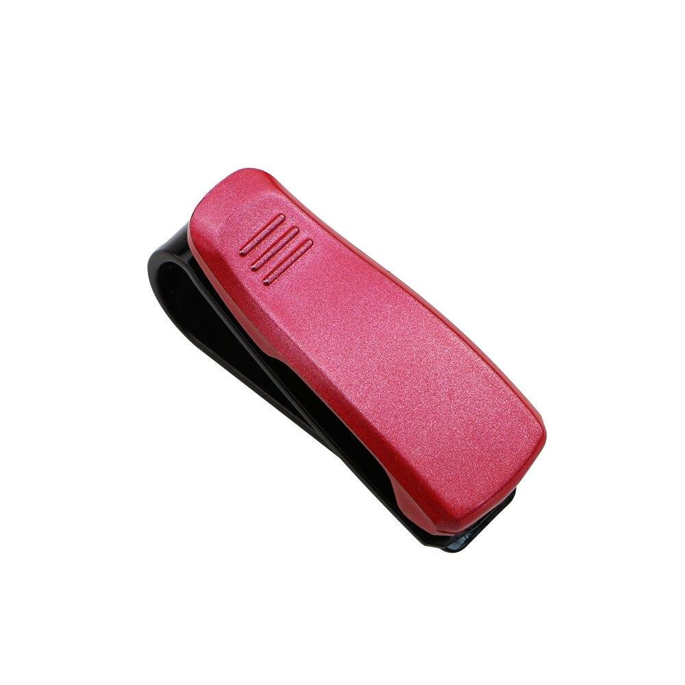 Горячая Авто крепежный зажим авто аксессуары ABS автомобиль солнцезащитный козырек солнечные очки, очки держатель зажим для билета - Название цвета: Red