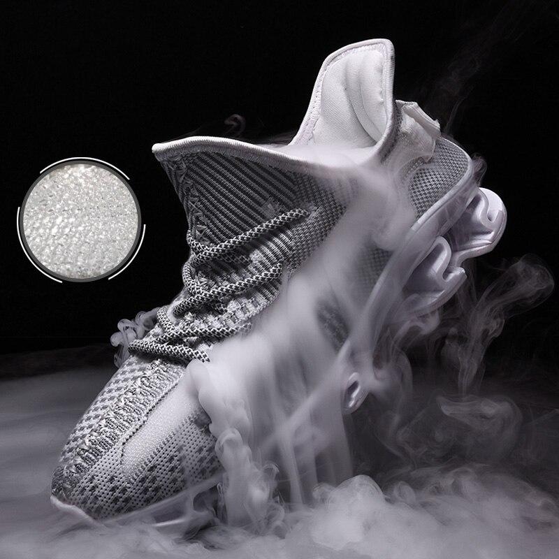 Respirant hommes baskets chaussures hommes tissage hommes chaussures de course 2019 marque chaussures de Sport confortable formateur athlétique nouvelle Sneaker