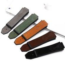 Аксессуары для часов кожаные часы с резиновой пряжкой на ремешке