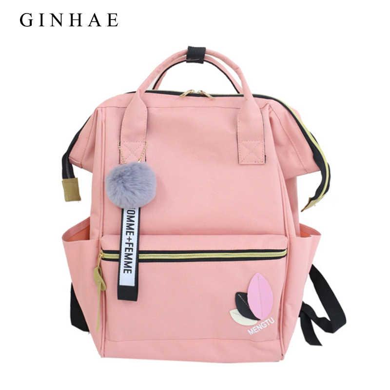 5b63ba362736 Аппликации для женщин нейлон Kanken рюкзак милый Мех животных школьные  ранцы для подростков обувь девочек 2018
