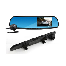 Cheapest prices Full HD 1080P Car Dvr Camera Auto 4.3 Inch Rearview Mirror Digital Video Recorder Dual Lens Registratory