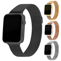 Para apple watch band 42mm milanesa de bucle de la correa brazalete de eslabones de acero inoxidable de apple iwatch venda de 42mm 38mm negro