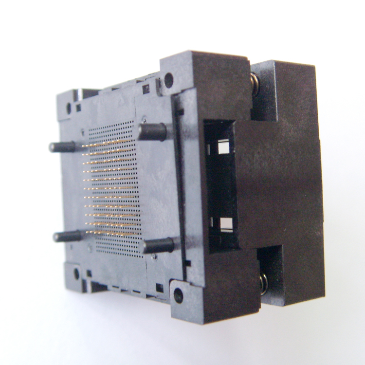 Купить с кэшбэком BGA132 BGA152 Burn in Socket BGA Adapter IC Test Socket For BGA88 BGA136 Flash Testing Programmer Adapter Open Frame Structure